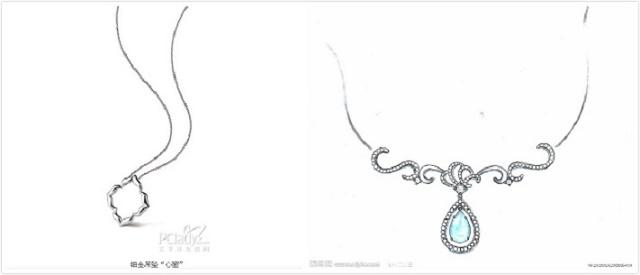 在现代的珠宝首饰设计中常见的绘画工具有很多种类,设计师可以根据